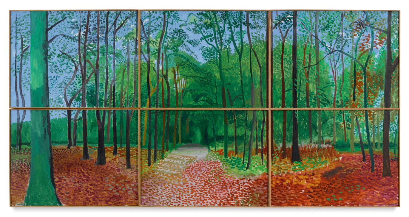 David Hockney, Woldgate Woods, 24, 25, and 26 October 2006