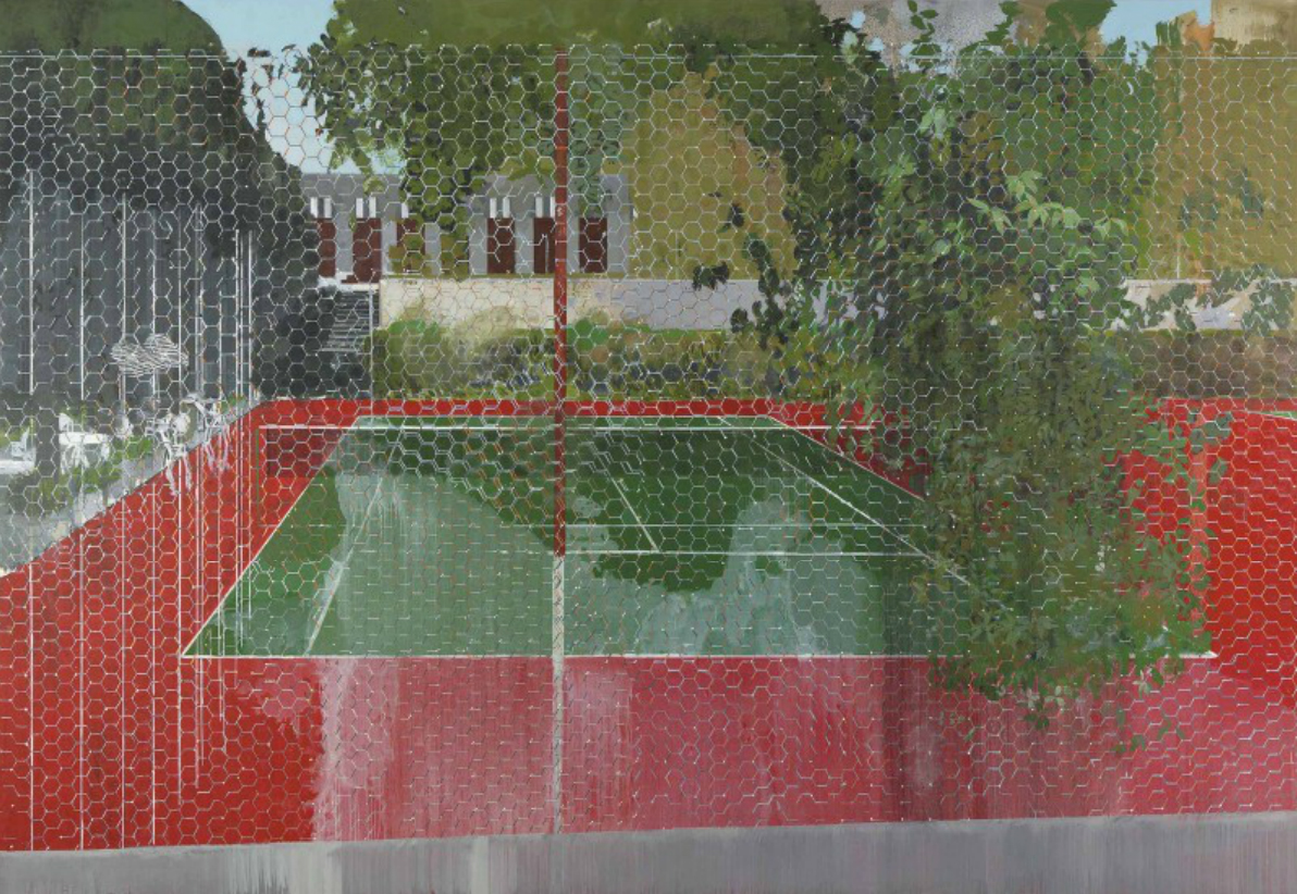 Hurvin Anderson, Country Club: Chicken Wire