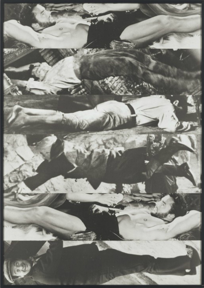 John Baldessari, Horizontal Men (With One Luxuriating)