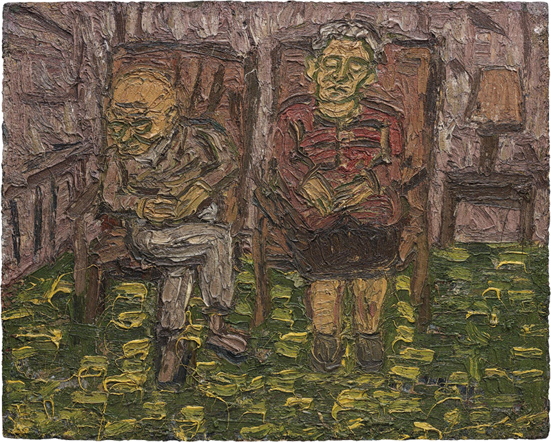 Leon Kossoff, Two seated Figures no.1 (My Parents), 1980