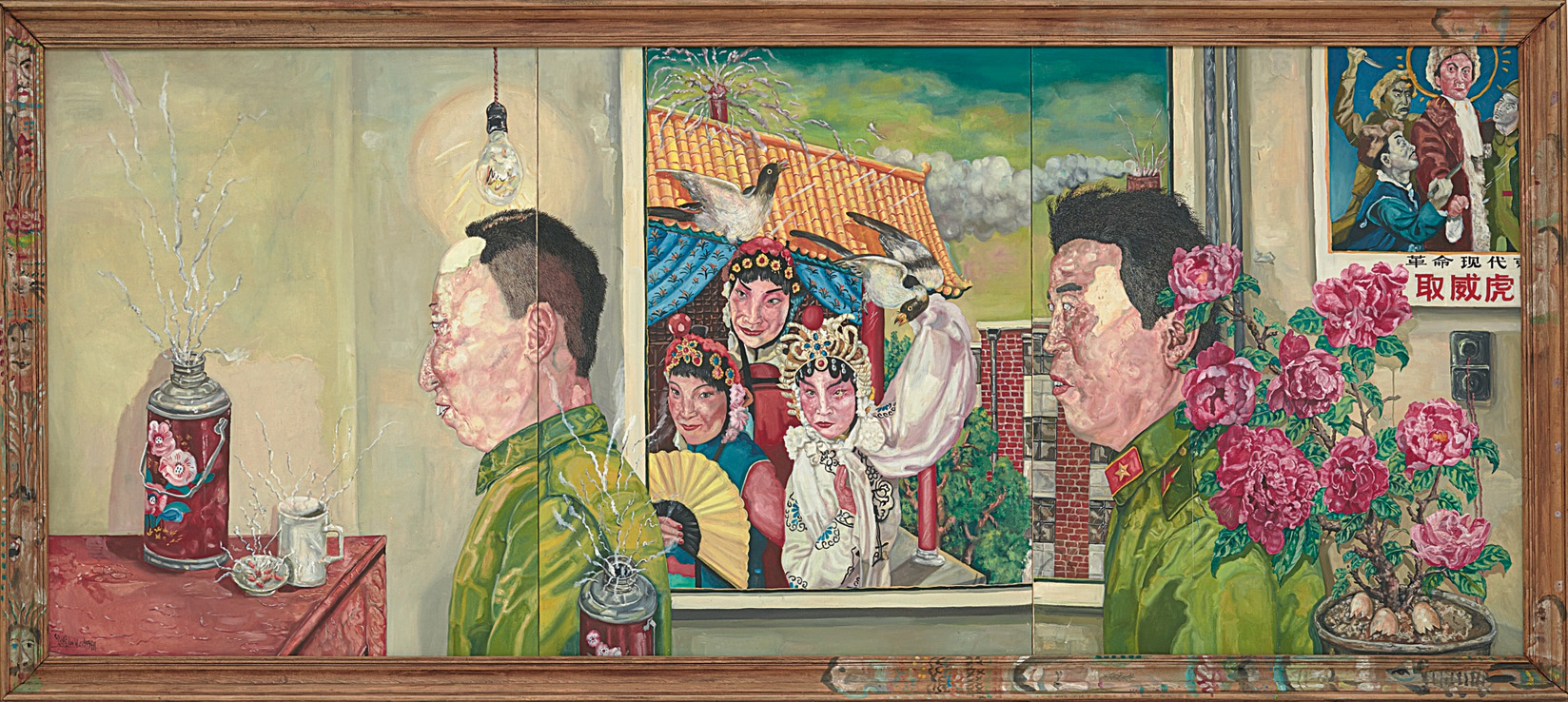 Liu Wei, The Revolutionary Family Series (Triptych)