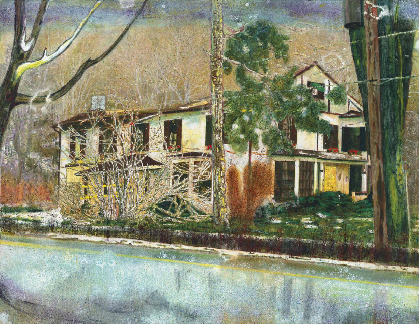 Peter Doig, Pine House (Rooms for Rent)