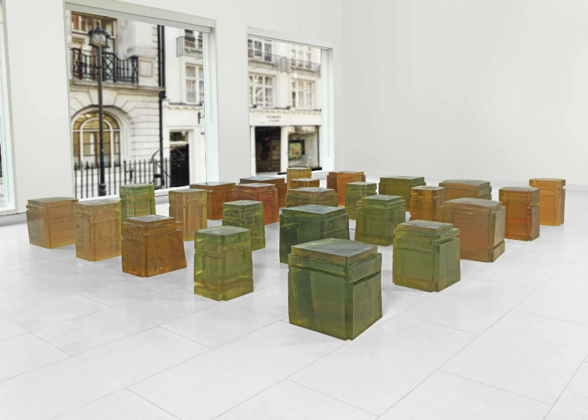 Rachel Whiteread, Untitled (Twenty-five spaces)