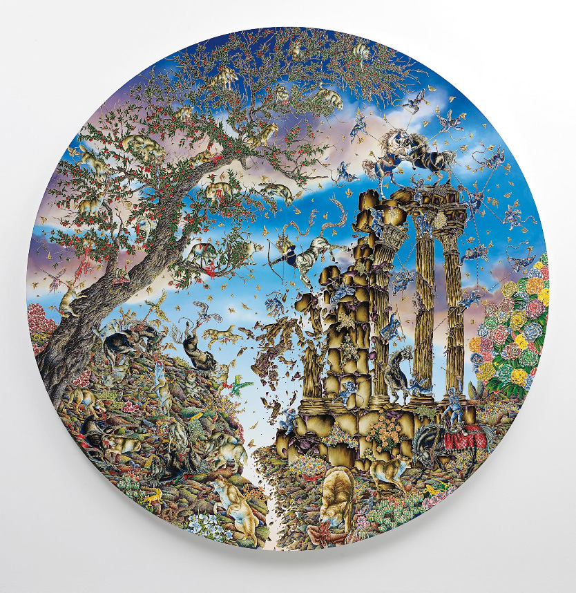 Raqib Shaw, Arrival of the Horse King from the series Paradise Lost, 2011-2012