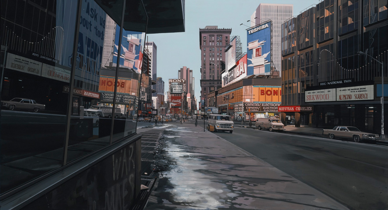 Richard Estes, Times Square At 3:53 P.M., Winter